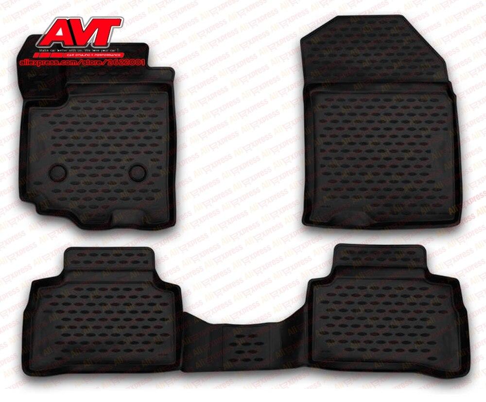 Коврики для Suzuki Vitara 2015-4 шт. резиновые коврики Нескользящие резиновые интерьерные автомобильные аксессуары для укладки