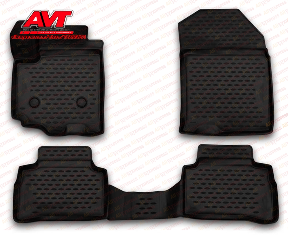 Floor mats for Suzuki Vitara 2015- 4 pcs rubber rugs non slip rubber interior car styling accessories