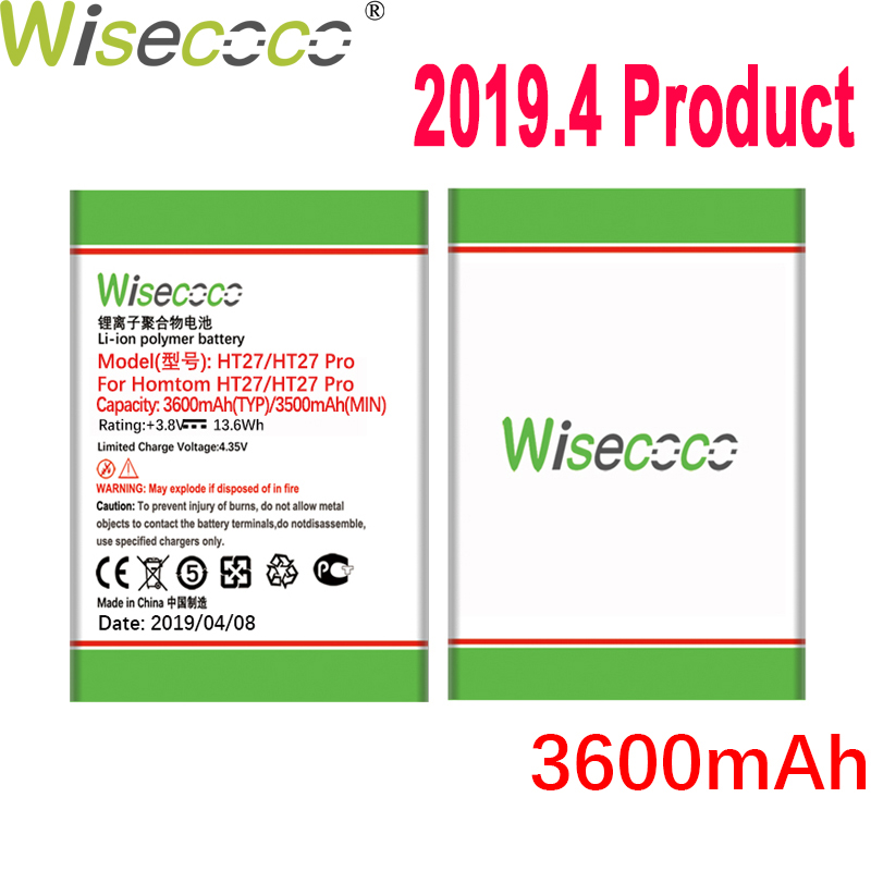 WISECOCO 3600mAh Battery For <font><b>HOMTOM</b></font> HT27/HT27 Pro Mobile Phone In Stock Latest Production High Quality Battery+Tracking Number image