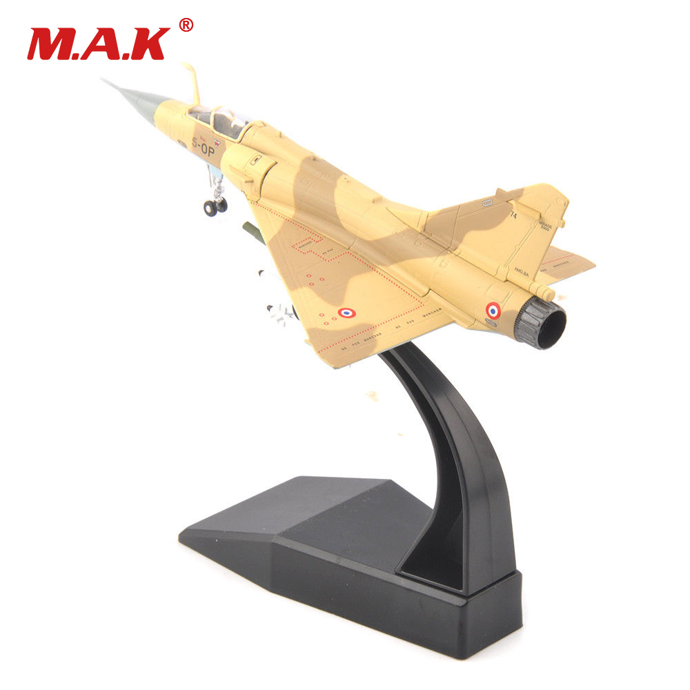 Kid Plane Model Toys 1/100 Diecast Fighter Airplane Dassault Mirage 2000 Alloy Model Aircraft Model for Collection Gift