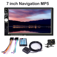 2 Din Car Radio Mutimedia Player 7026GM 7 GPS Navigation Bluetooth MP4 MP5 Mirror Link Rear