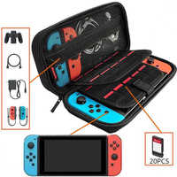 ALLOYSEED for Nintend Switch Console Portable EVA Storage Bag Dual Interlayer Game Card Holder Carrying Protective Case Pouch