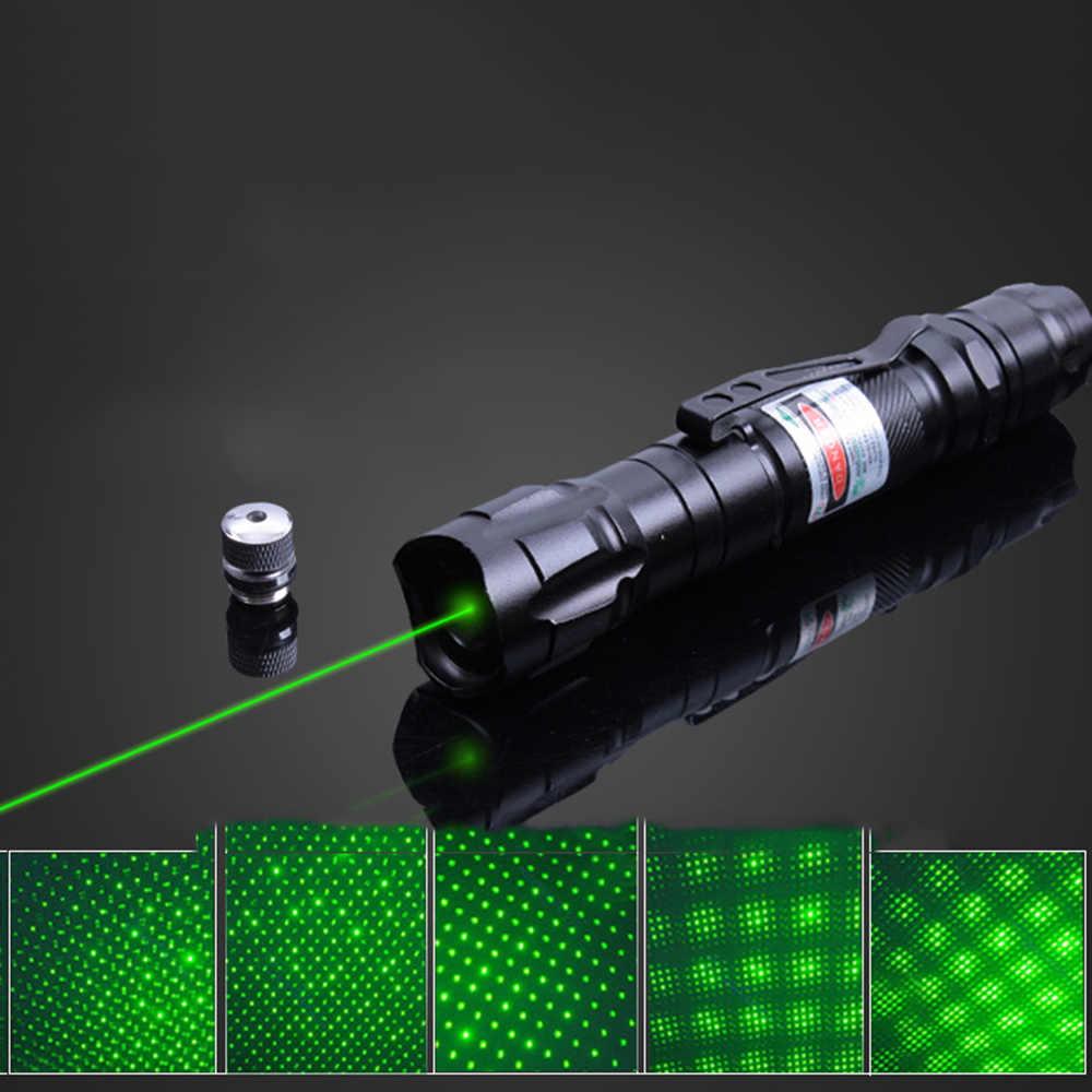 לייזר ירוק אור מצביע לייזר Sight חיצוני נסיעות ציד רב עוצמה מצביע לייזר גלויה פוקוס עם מטען סוללה ותיבה