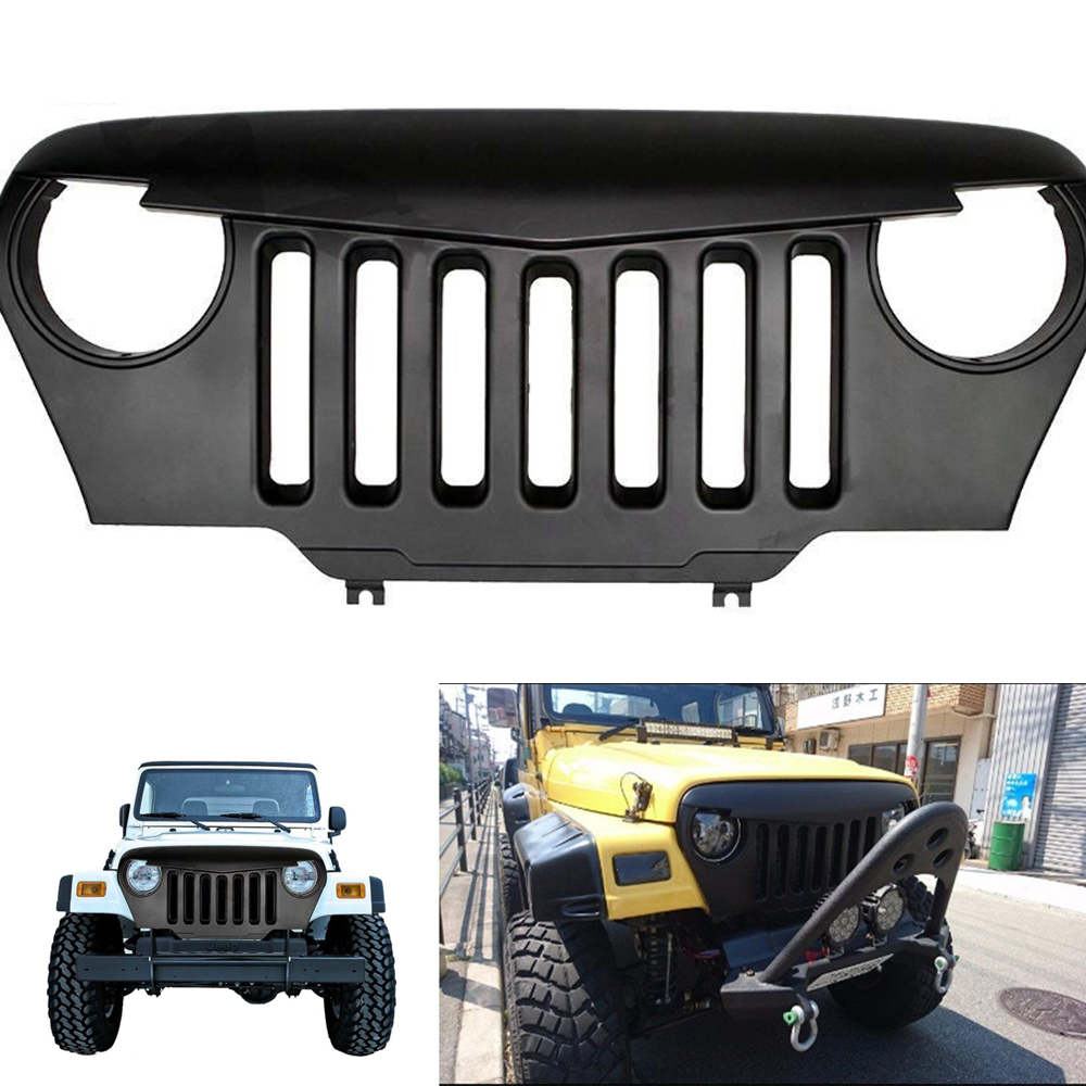 chuang qian matte black angry bird overlay front grill grille for
