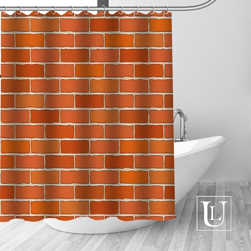 Brick Wall Pattern Shower Curtains Custom Bathroom Curtain Waterproof Fabric Polyester High Quality In From Home