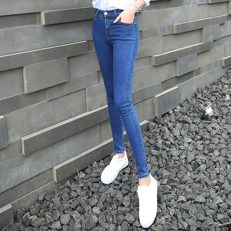 NORMOV   Jeans   Women High Waist Plus Size Stretch   Jeans   Femme Washed Wholesale Large   Jeans   Skinny High Elastic Denim Pencil Pants