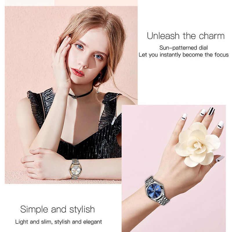 2019 Ini Baru Mawar Emas Wanita Bisnis QUARTZ Watch Wanita Top Brand Mewah Wanita Wrist Watch Gadis Clock Relogio feminin