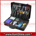 Primera caja de herramientas con ALL-ALUMINUM CARRY case, Universal de fibra óptica fusión de empalme / instalación / terminación ToolKit