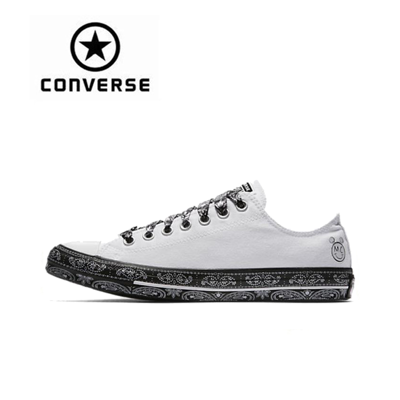 Converse Women x Miley Cyrus All Star Classic Canvas Skateboarding Shoes Low Top Non-slip Resistant Sneakser new converse chuck taylor all star ii low men women s sneakers canvas shoes classic pure color skateboarding shoes 150149c