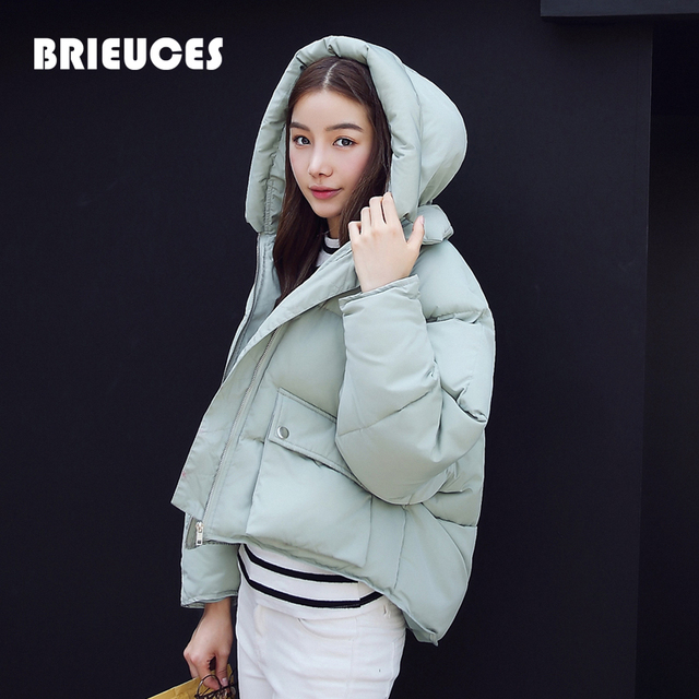 New Wadded Winter Jacket Women Short Bat Sleeved Jacket Fashion 2016 Girls Padded warm Plus Size Hooded Parkas Stand collar Coat