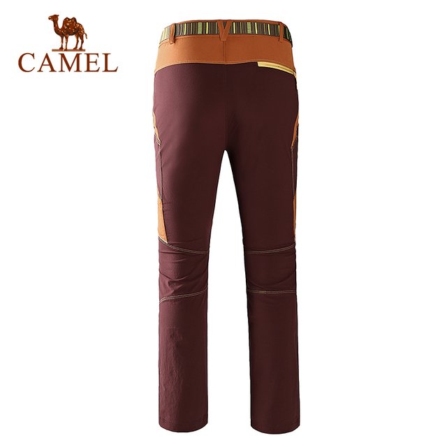 Camel Outdoor Pants Men Waterproof Warm Fleece Hiking Trekking Pants Climbing Camping Sport Softshell Mujer Trousers A6S2Z8106
