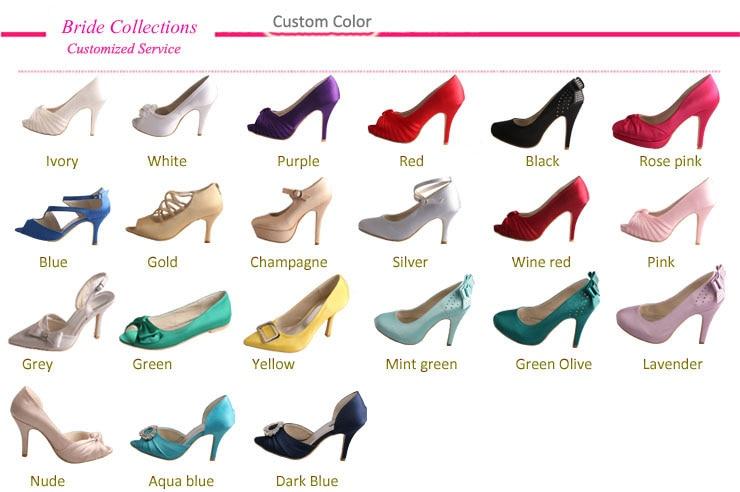 8c1ab8e2a60d Wedopus Mint Green Platform High Heels Ladies Wedding Shoes Satin ...