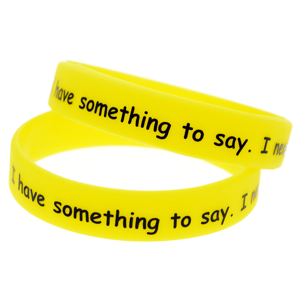OneBandaHouse Silk Screen Printed Silicone Rubber Bracelets Personalized Design Classic Wristband