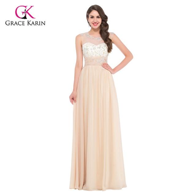 Grace karin grau/blau/beige/weizen sleeveless formale abendkleider ...