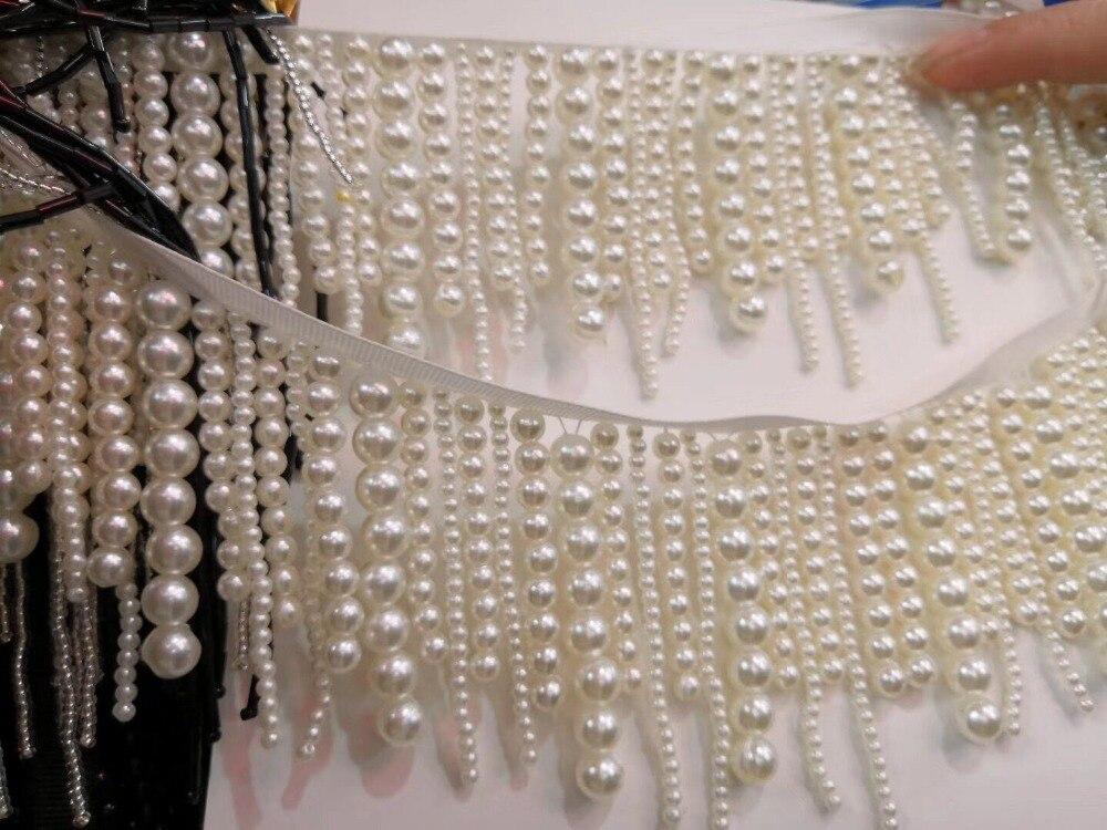 beaded Fringe Ribbon Trim Fringe Tassel Lace Trim JIANXI C 62711 for Clothing Decoration