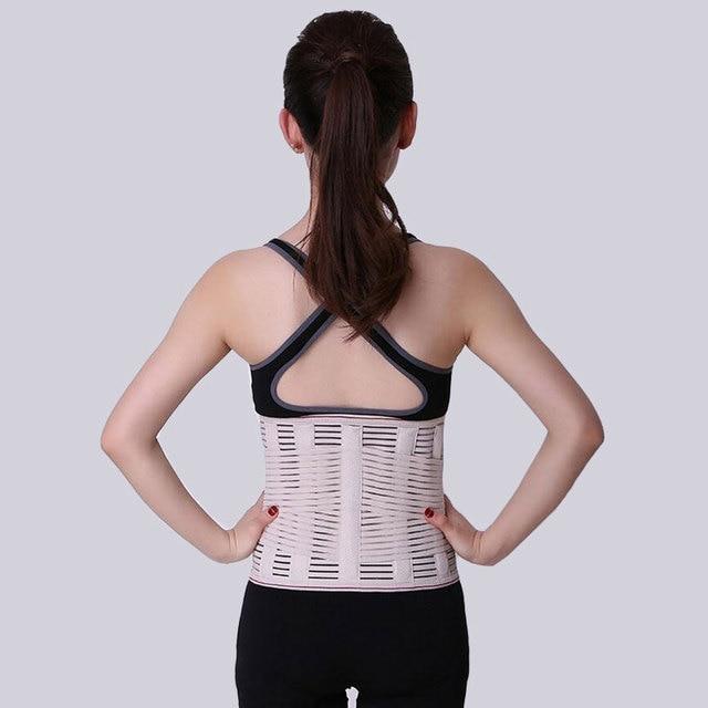 Lumbar Back Spinal Spine Waist Brace Support Belt Corset Stabilizer Cincher Tummy Trimmer Trainer Weight Loss Slimming Belt