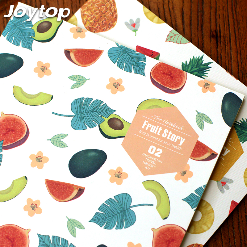 Joytop 2017 Fruit Story B5 Planner Notebook Creative Travel Journal Diary Exercise Binding Note Notepad Gift School supplies