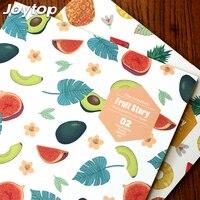 Joytop 2017 Fruit Story B5 Planner Notebook Creative Travel Journal Diary Exercise Binding Note Notepad Gift
