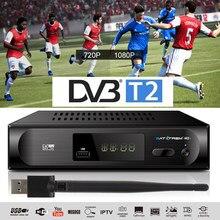 H.264 DVB-T2 DVB-C receptor de tv 1080p sintonizador de tv digital receptor tdt dvb t2 receptor wi-fi terrestre vhf uhf conjunto caixa superior dvb-t