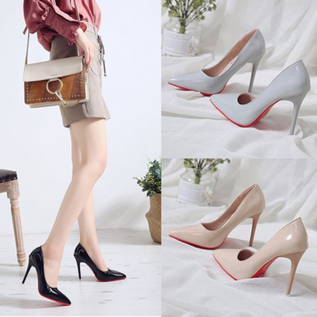 Bed high heels fun one-time sexy high heels bed foot fetish alternative passion sexy red bottom 1