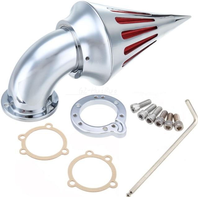 Хром конус Спайк воздухоочиститель впуска комплект фильтр для Harley Sportste резюме и на заказ
