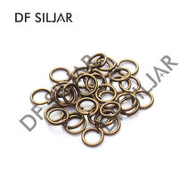 100pcs Antique Bronze Metal 4 5 6 7 8mm Open Closed Jump Rings Split Rings Connectors for Jewelry Making Findings Y517(China)