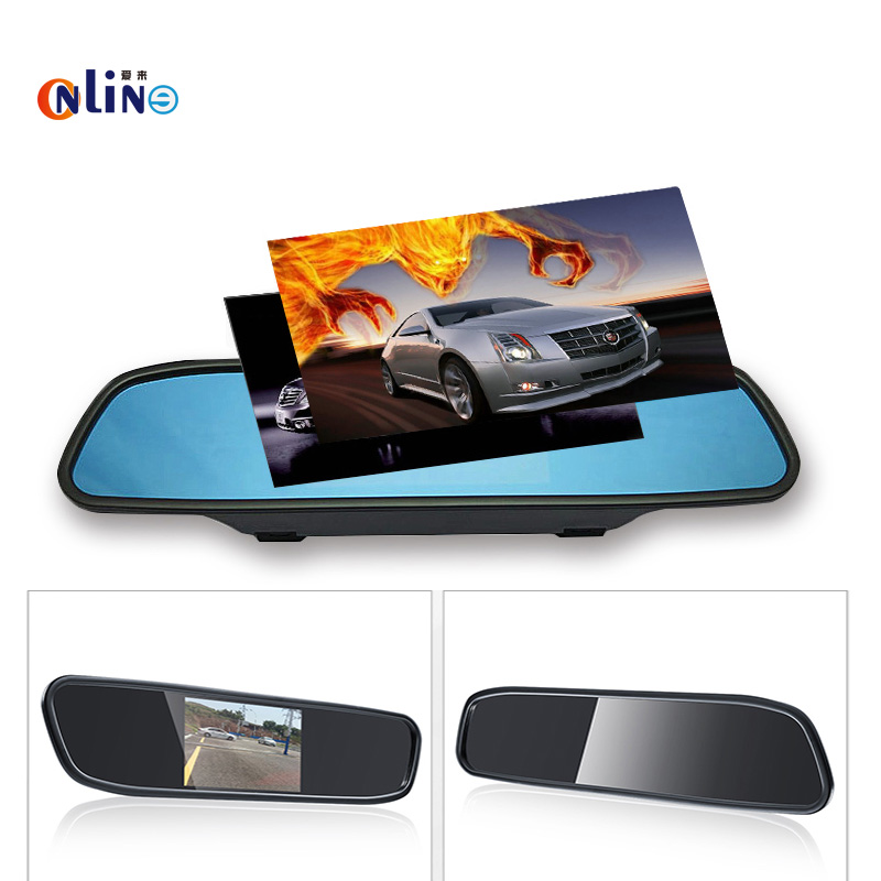 Car electronics TFT 800*480 5.0 inch LCD Car Parking Mirror Monitor Video Input For Rear / Front view Camera Parking Assistance