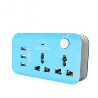 Multifunction USB Socket Portable Power 3 Port USB Charger Universal Travel Charger Phone Charge EU UK