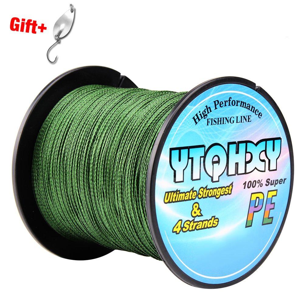 Ytqhxy 100m 4 strands super strong pe braided fishing line for 100 lb fishing line