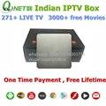 Libre de toda la vida Quad Core Android TV Box Caja del IPTV Indio Con Más de 270 Canales HD Apoyo Deporte y El Drama de TELEVISIÓN de la India caja
