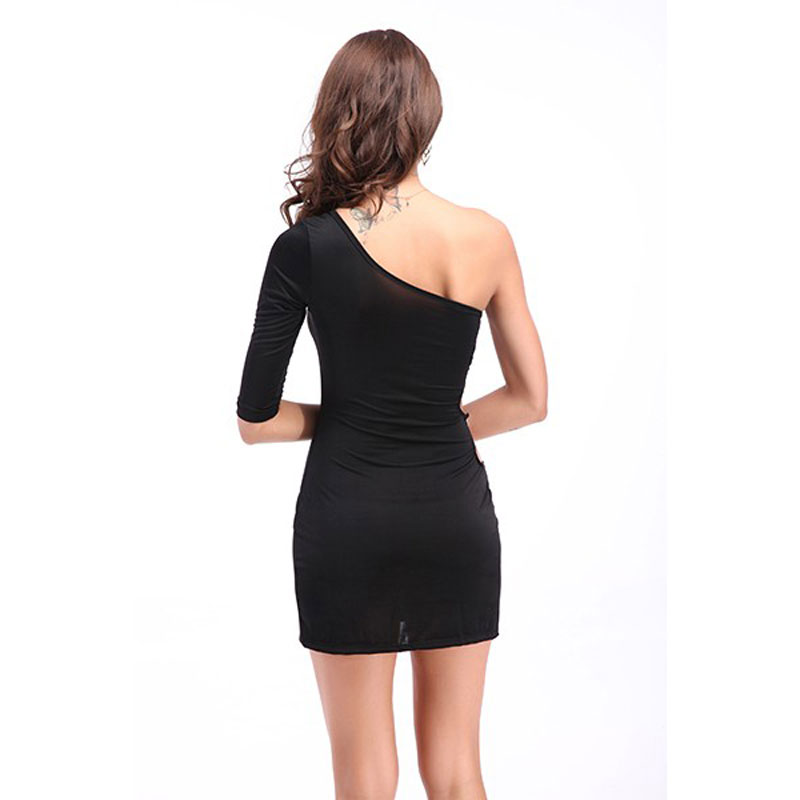 Sexy One Shoulder Club Wear Dress Plus Size - Best Crossdress  Tgirl Store-1856