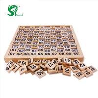 לילדים צעצועים 1-100 דיגיטלי לוח עץ צעצועי מתמטיקה מונטסורי מונטסורי עץ לוח דיגיטלי צעצועי ילדים החינוכיים חומרים