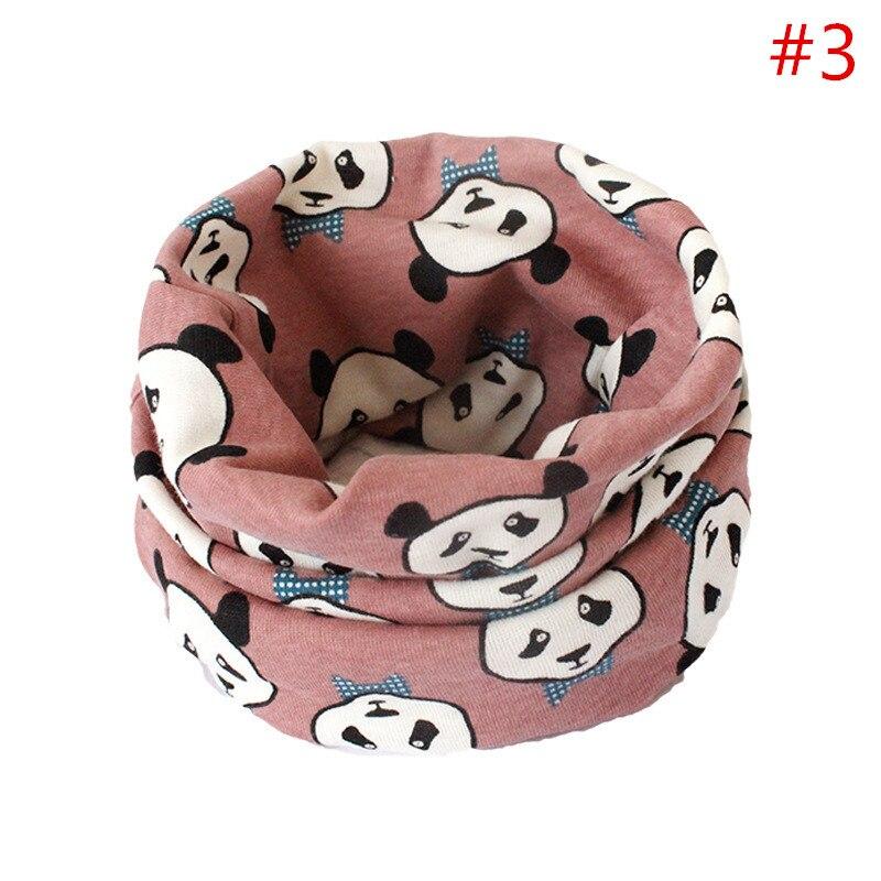 Детский хлопковый шейный шарф с милым принтом; детский теплый шарф; Детские воротники; осенне-зимний шарф-кольцо для мальчиков и девочек; аксессуары для детской одежды - Цвет: No.3