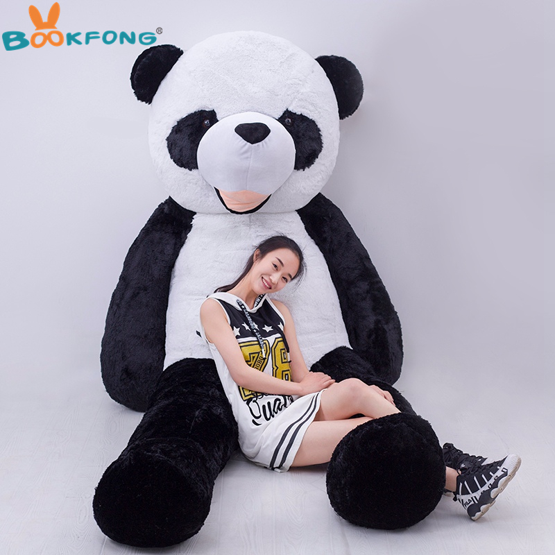 180cm giant empty panda skin plush toys doll not pp stuffed inside panda toy kawaii children gift toy new lovely plush panda toy stuffed sitting panda doll gift about 60cm