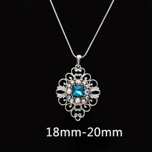 Fashion Snaps Jewelry 18mm button hollow flower DIY Snap Button Pendant Necklace For Women Charms Gift