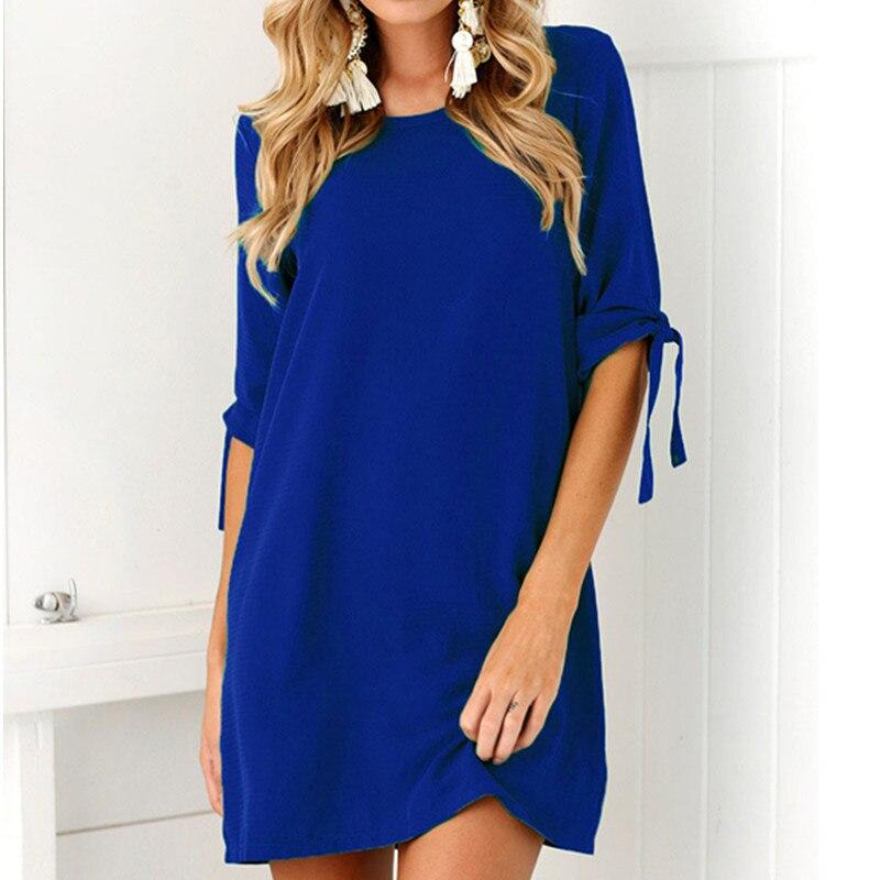 Fashion chiffon plus size dresses for women 4xl 5xl 6xl elegant short sleeve office dress korean style women clothes blue dress short dresses office wear