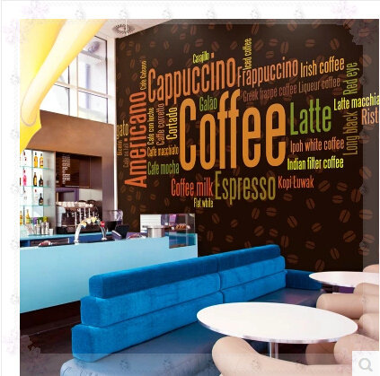 Large Photo Wall Murals Wall Paper Personality Coffee Shop Living ...