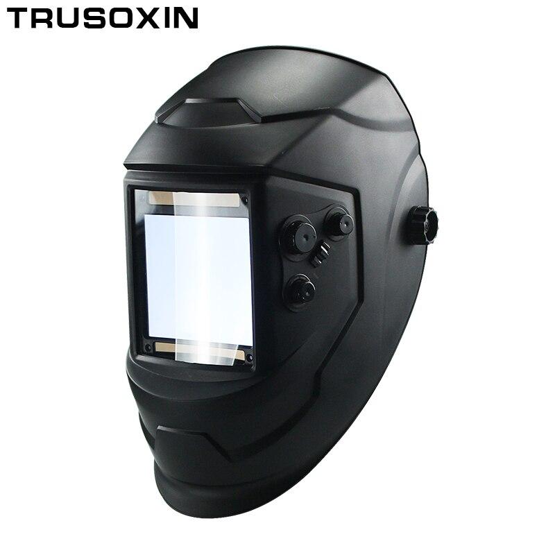 Große Ansicht Eara 4 Arc Sensor DIN5-DIN13 Solar Auto Verdunkelung TIG MIG MMA Schweißen Maske/Helm/Schweißer Kappe /objektiv/Gesicht maske/Brille
