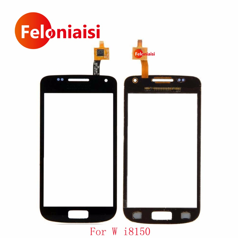High Quality 3.7 For Samsung Galaxy W i8150 Touch Screen Digitizer Sensor Outer Glass Lens Panel Black+Tracking Code