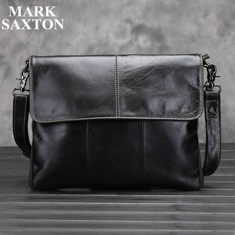 Vintage Fashion 100% Real genuine leather mens