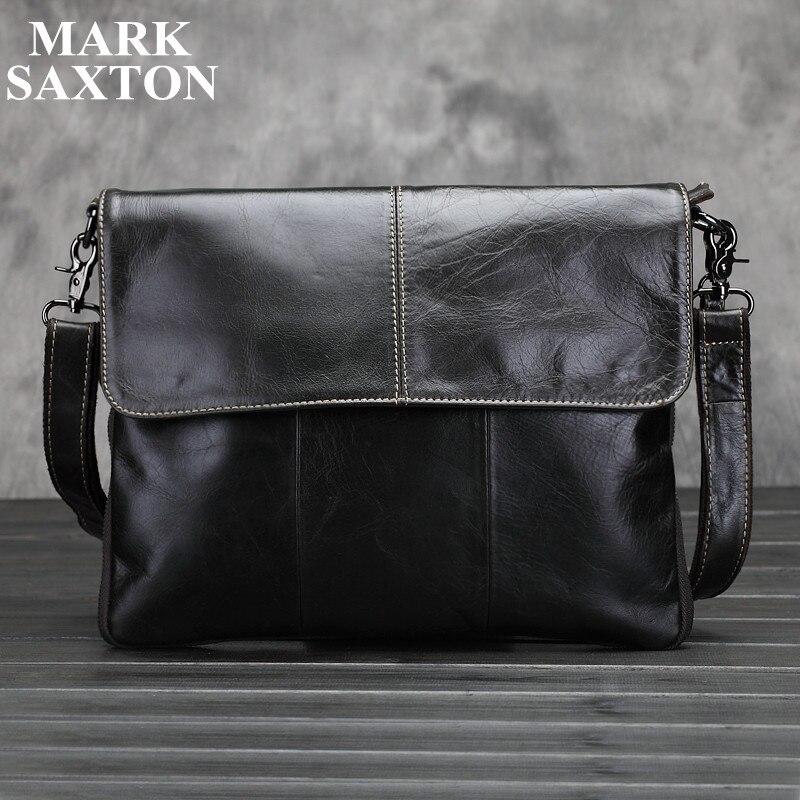Vintage Fashion 100% Real genuine leather men messenger bags High quality shoulder crossbody bag brand casual men bags