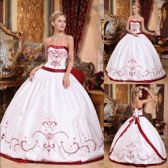 bfcd6d8d5d Vestidos de novia rojos con blanco – Vestidos madrina