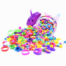 70pcs Pop Beads Amblyopia Candy Colors DIY Wear Bead Bracelet Without String Kids Toys Personalized Jigsaw Puzzle Beads Toys(China)