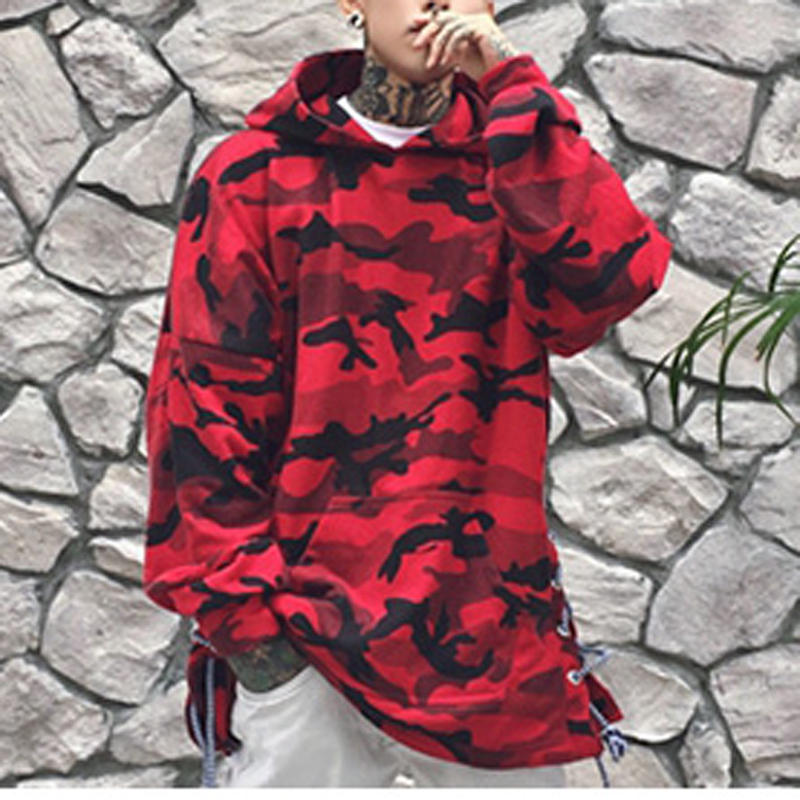 HEYGUYS HOT 2018 red camouflage hoodie men fashion sweatshirts brand orignal design casual pullover for me autumn 3