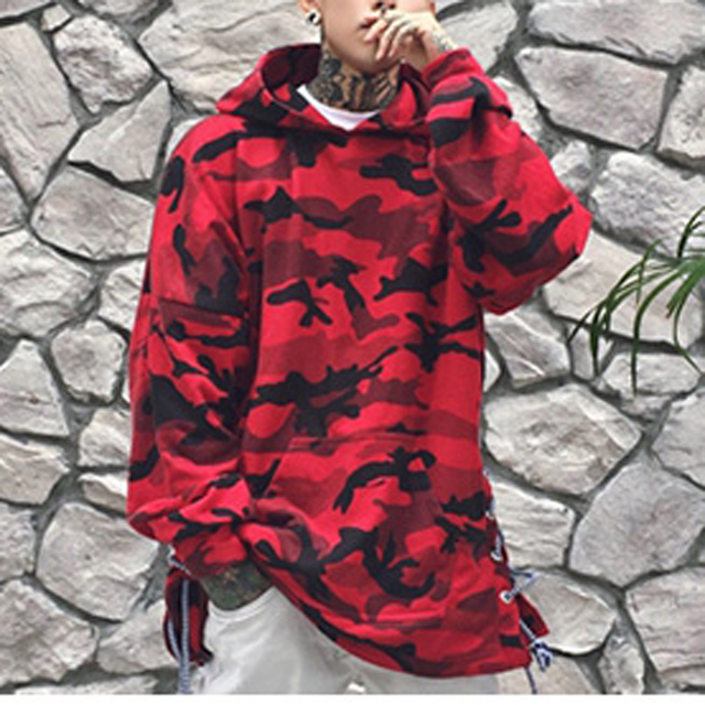 HEYGUYS HOT 2017red blue camouflage hoodie men fashion sweatshirts brand orignal design casual  pullover for me autumn