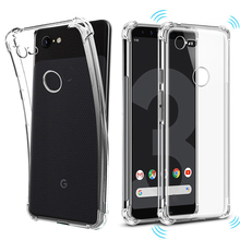 Airbag Shockproof Soft Silicone Case for Google Pixel 3A XL 3 Lite Clear TPU Phone Cover 3XL 2