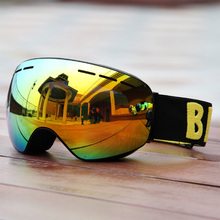 Be Nice Brand Outdoor Master Ski & Snowboard Goggles with Detachable Dual Layer Anti-Fog Double Lens skiing eye wear Snow-3100