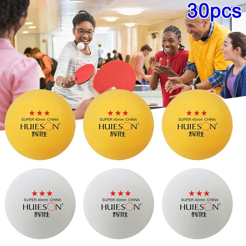 30pcs/set 3-Star Table Tennis Balls Pingpong Amateur Professional Training Ball BB55