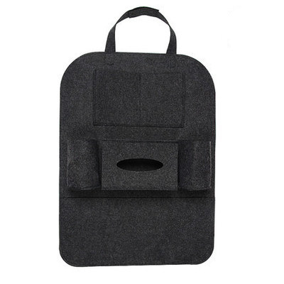 Новинка, Универсальный 1 шт. автомобильный защитный чехол на заднюю часть сиденья автомобиля, детский коврик, сумка для хранения, аксессуары для автомобиля - Цвет: dark gray