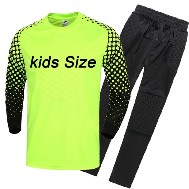 Niños Jerseys portero de fútbol deporte niños futbolistas Sets survetement fútbol  Futbol uniformes de entrenamiento chándal 92cb6659ba3ed
